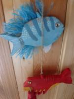 Seaside trio of Fish  mobile
