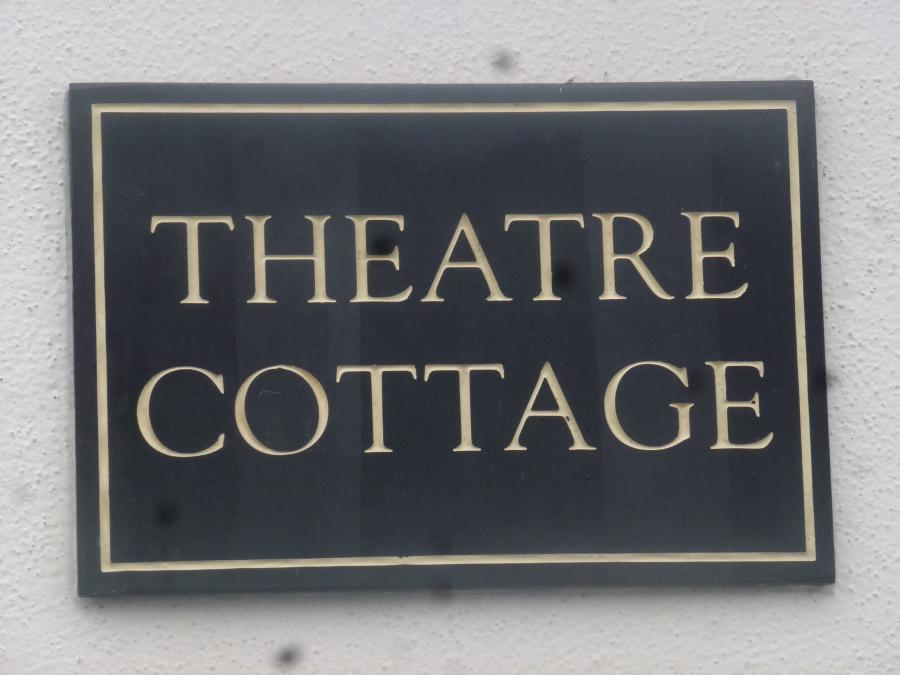 Theatre cottage sign