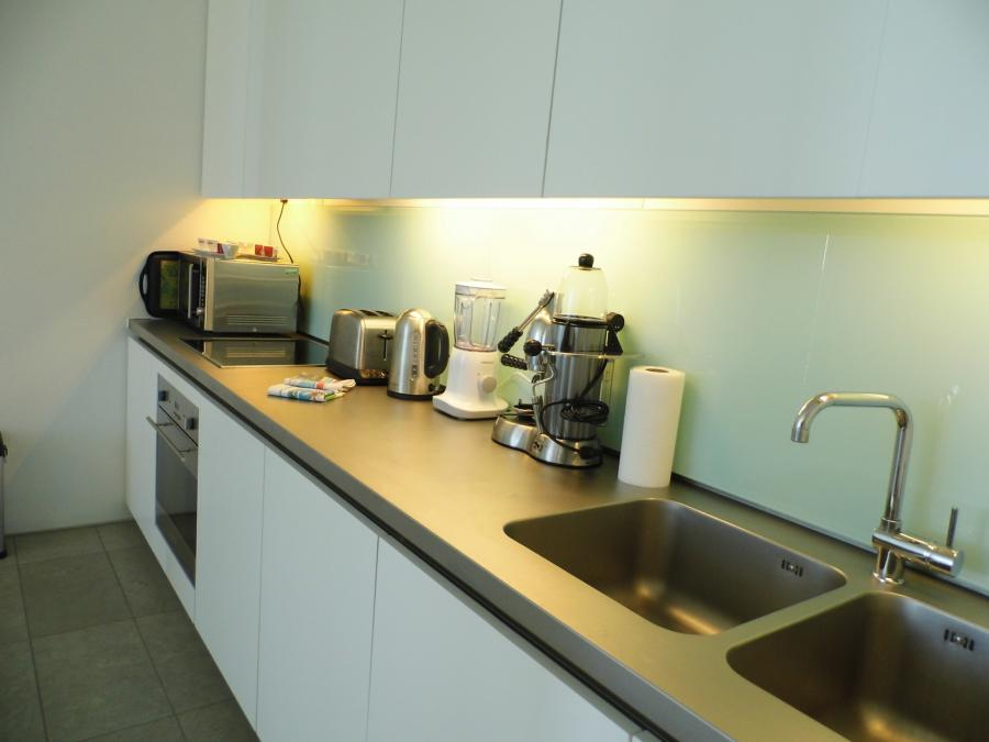Contemporary kitchen with crockery and all utensils