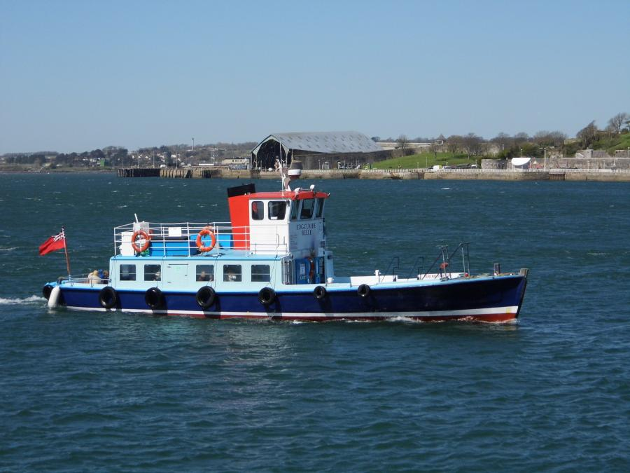 The Cremyll ferry from the windows