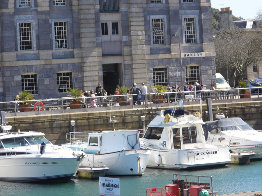 Royal William yard marina with Seco lounge